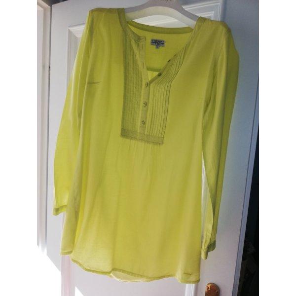 Tom Tailor Blusa de manga larga amarillo neón Algodón