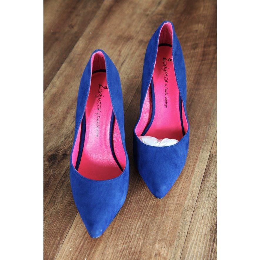SUPER SALE!!!   Daniela Katzenberger High Heels in Mega Blau