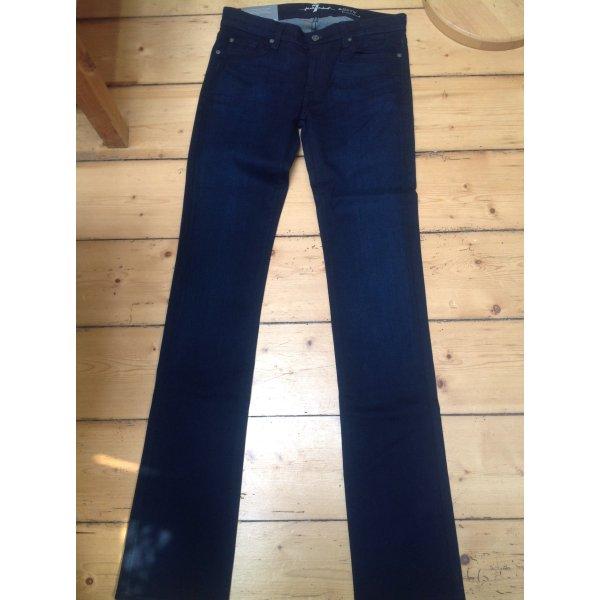 7 For All Mankind Pantalone cinque tasche blu scuro-nero Tessuto misto