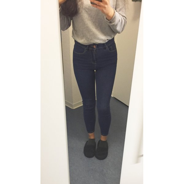 Super Skinny Knöchellange Hoch geschnittene Jeans