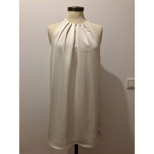 Mango Mini vestido blanco-crema