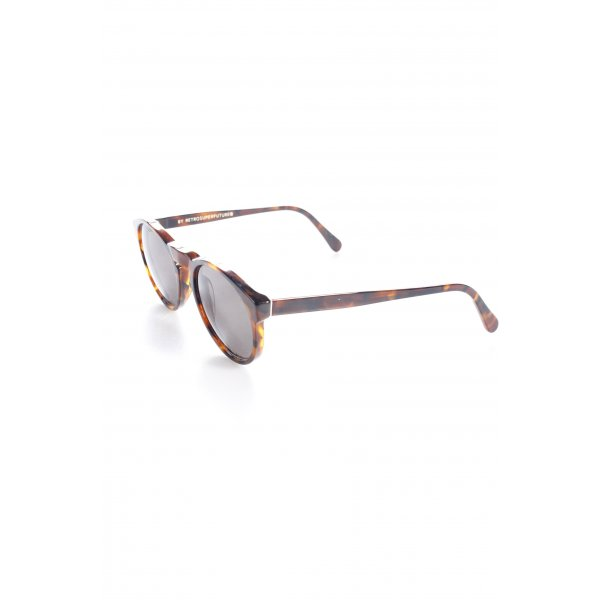 Super sunglasses Retro Brille braun Animalmuster Retro-Look