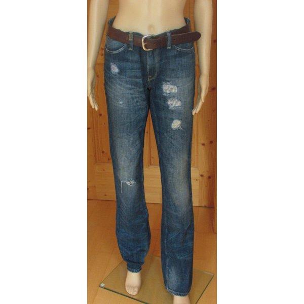 Ralph Lauren Straight Leg Jeans steel blue-blue cotton