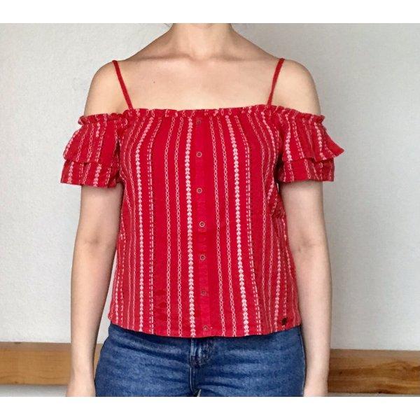 SuperDry Carmen-Shirt / schulterfreies Top