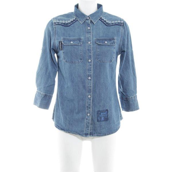 Superdry Jeanshemd blau Country-Look