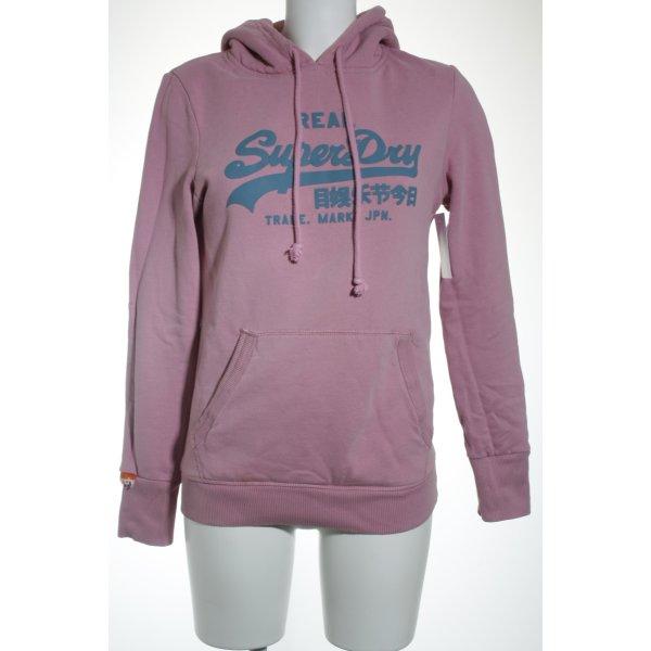 Superdry Kapuzensweatshirt rosa Casual-Look