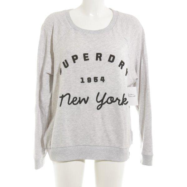 Superdry Sweatshirt hellgrau Casual-Look