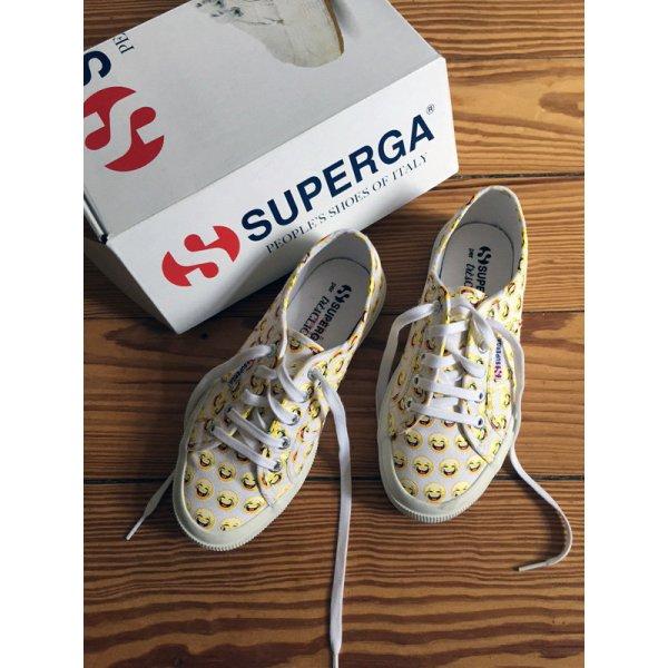 Superga Très Click Sneakers Sneaker low Smiley weiss - 37 38 - WIE NEU