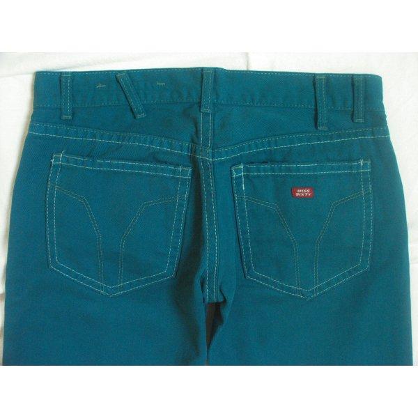 Miss Sixty Straight Leg Jeans cadet blue-petrol cotton