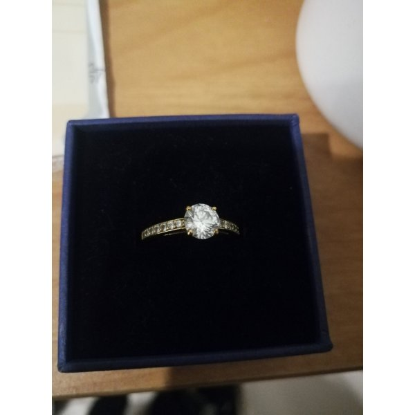 Swarovski Atrract Ring rund Gold 52