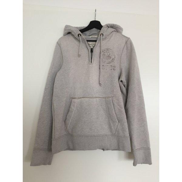 Abercrombie & Fitch Jersey con capucha gris claro-gris