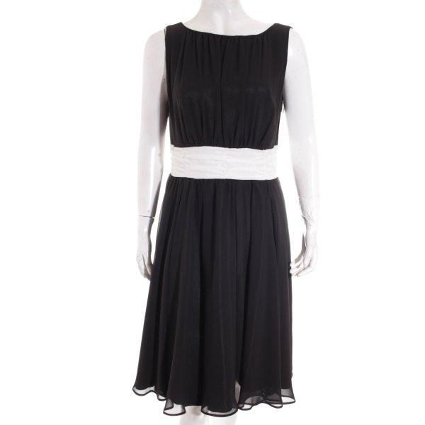 Swing Abendkleid schwarz-weiß Elegant