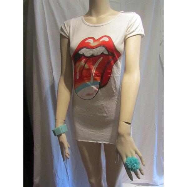 T-Shirt mit Rolling Stones Symbol Print