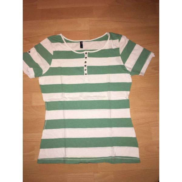 T-Shirt Multiblu weiß, grün in Größe L
