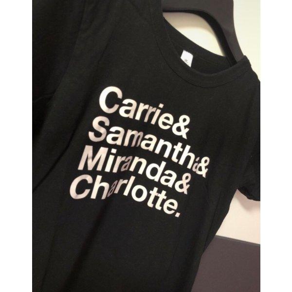 B&C collection Camiseta estampada negro-blanco