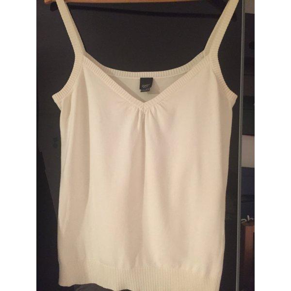 Esprit Camisa tejida blanco puro