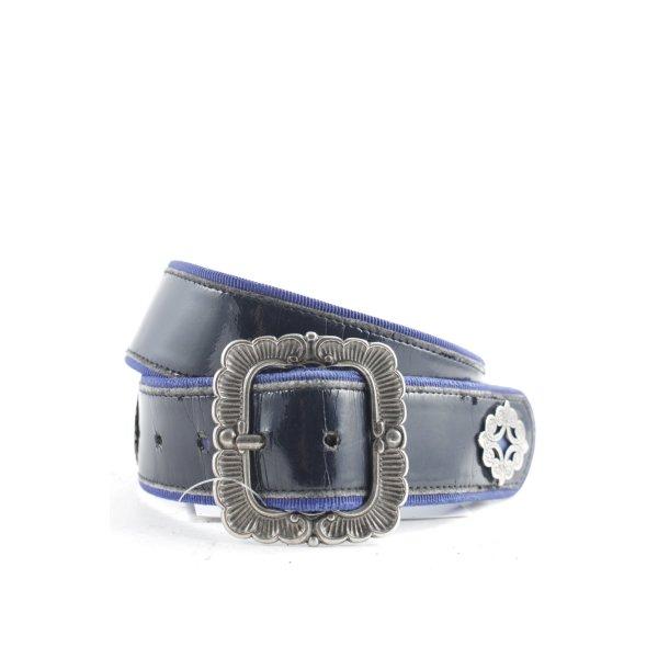 Taillengürtel schwarz-blau Metallelemente