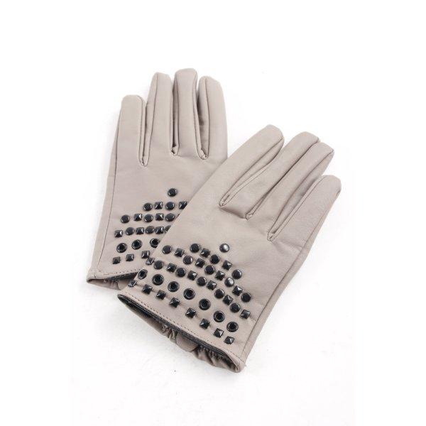 Tally Weijl Vingerandschoenen grijs-bruin straat-mode uitstraling