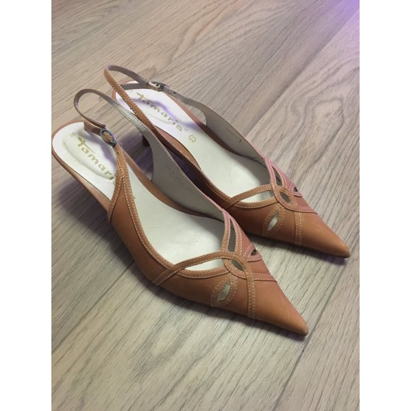 Tamaris Pointed Toe Pumps bronze-colored