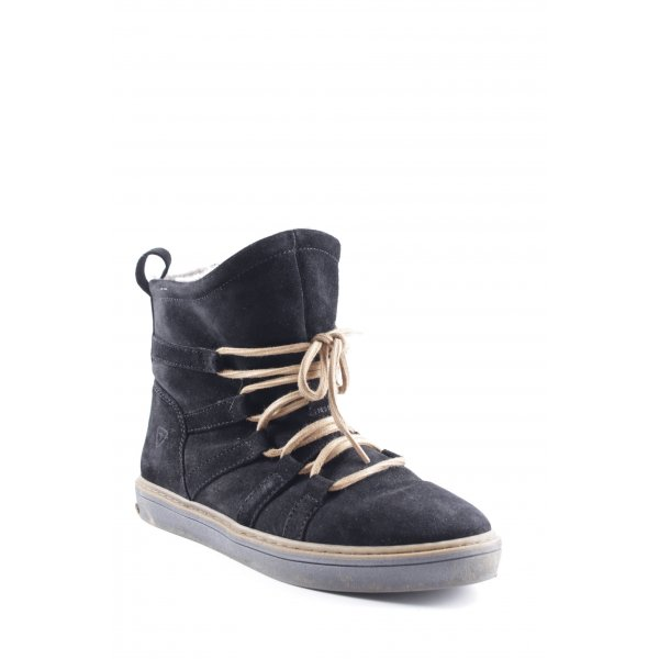 Tamaris High Top Sneaker schwarz-camel Casual-Look