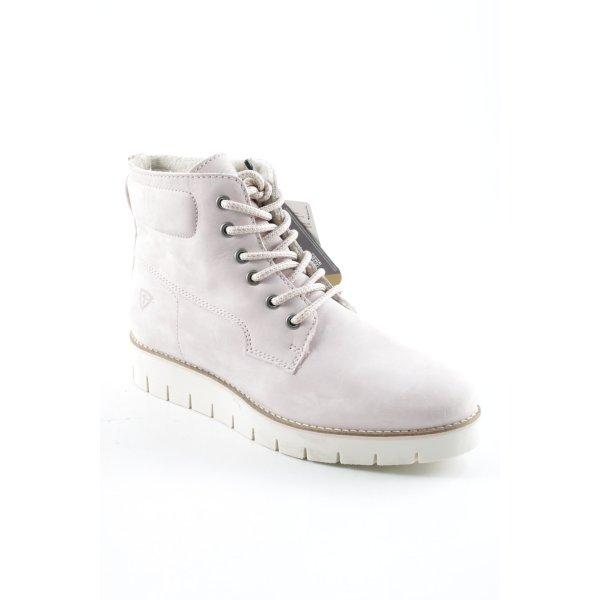 Tamaris Plateau-Stiefeletten hellrosa-weiß Street-Fashion-Look