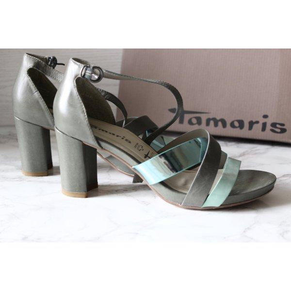 Tamaris Platform High-Heeled Sandal multicolored leather