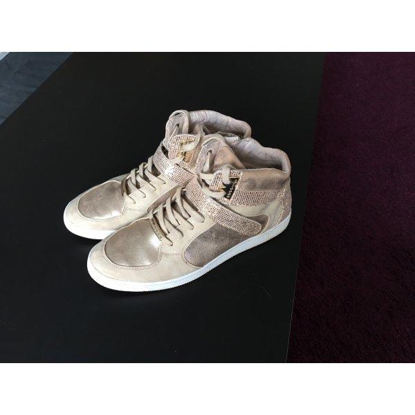 Tamaris Sneaker goldfarben Casual-Look
