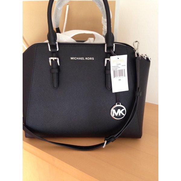 Tasche, Handtasche, von Michael Kors, in Schwarz, Leder