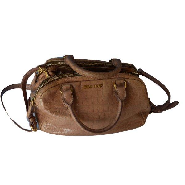 Miu Miu Carry Bag beige leather
