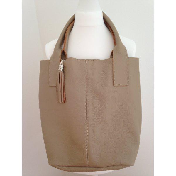 Tasche, Shopper, neu, Leder, in Beige,  von Picard