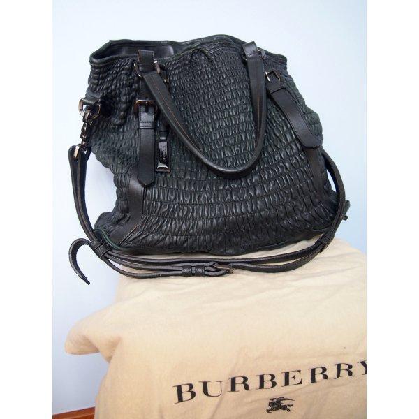 Burberry Hobotas zwart-petrol Leer