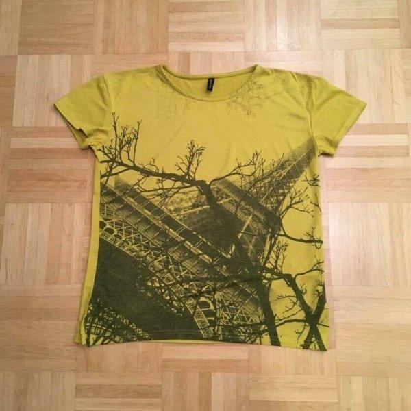 TATUUM, Damen T-Shirt, Gelb, Paris Muster, Grösse: 36