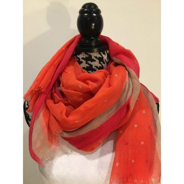 TCM Sommerschal, leichter Schal orange rot, NEU und ungetragen