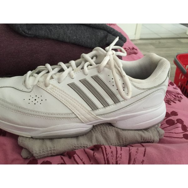 Adidas Schoenen wit Leer