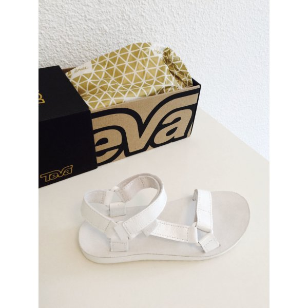 Teva Sandalo outdoor bianco Pelle