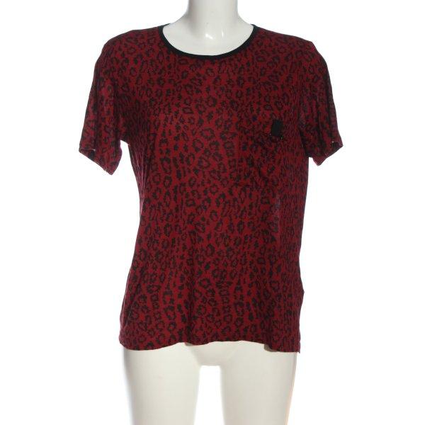 The Kooples T-Shirt rot-schwarz Allover-Druck Casual-Look