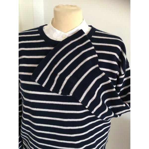 The Mercer NY Cashmere Ringel stripes Pullover Gr. 40 mit schönem Detail am Arm