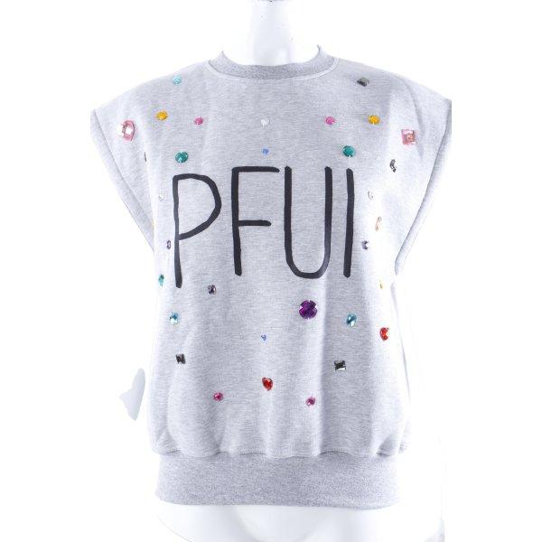 "The Shit Sweatshirt ""Pfui"" ärmellos Gr. 36 II"