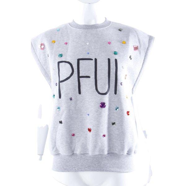 "The Shit Sweatshirt ""Pfui"" ärmellos Gr. 38 I"