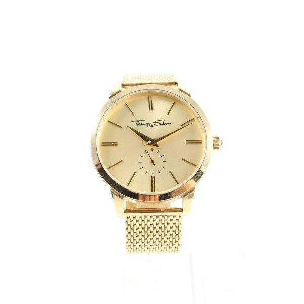 Thomas Sabo Uhr mit Metallband goldfarben Business-Look
