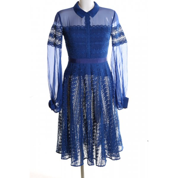 Three Floor Langarmkleid blau Elegant