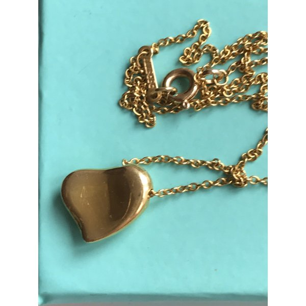 Tiffany & Co Elsa Peretti Full Heart Kette Gold