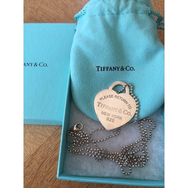 Tiffany & Co. Return to Tiffany lange Kette mit Large Tiffany-Blau Emaille-Herz