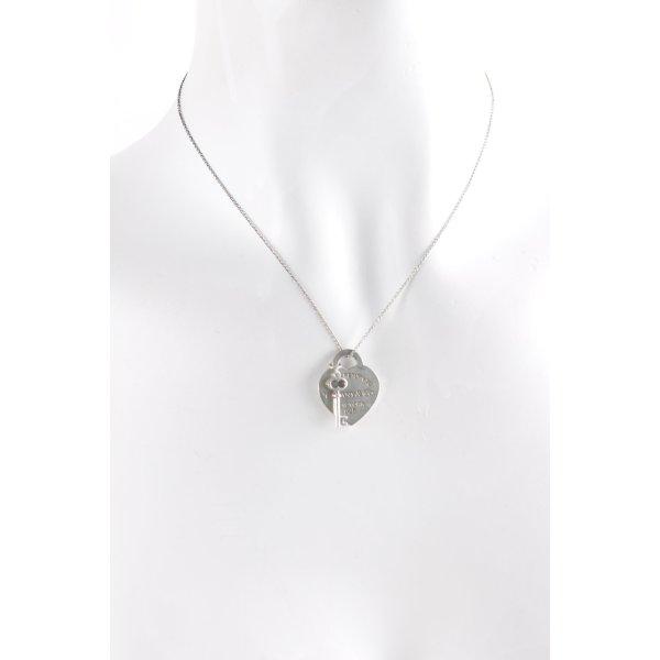 Tiffany&Co Silberkette silberfarben Elegant