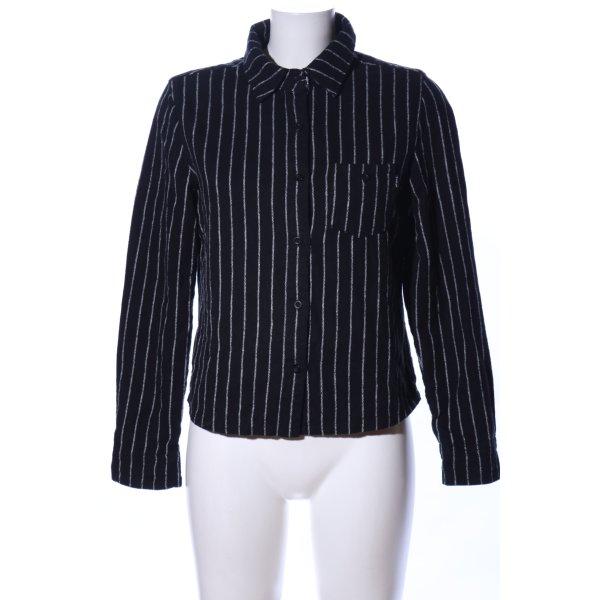 Titus Flanellhemd schwarz-weiß Streifenmuster Casual-Look