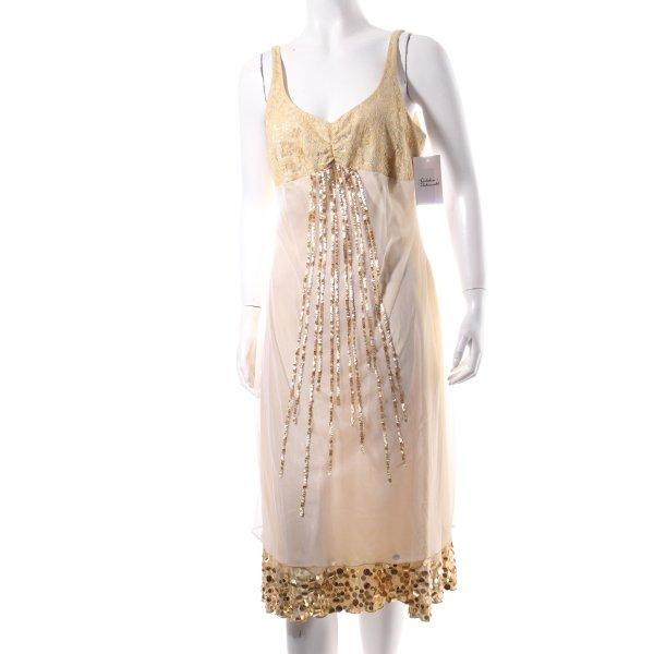 Together Abendkleid blassgelb-goldfarben Lingerie-Look