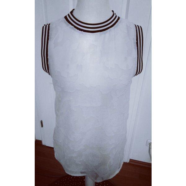 tolle bluse shirt gr.m weiß spitze