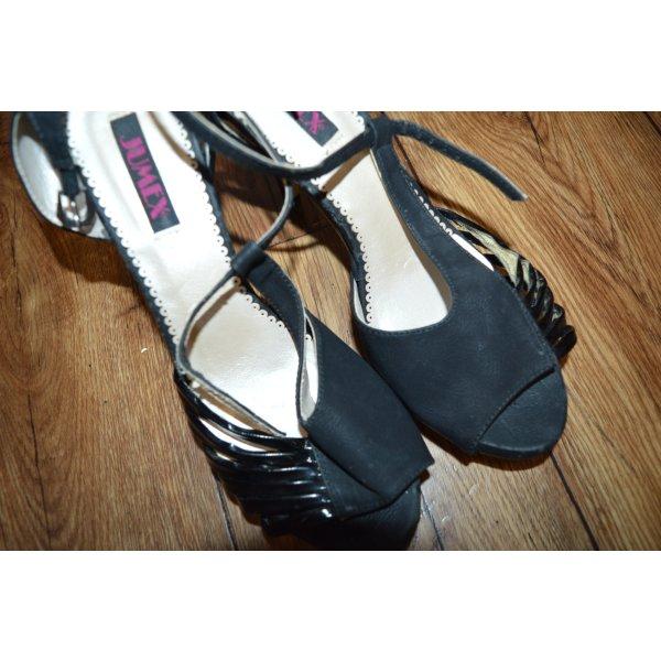 Tolle Heels Sandaletten Gr. 39 schwarz Jumex