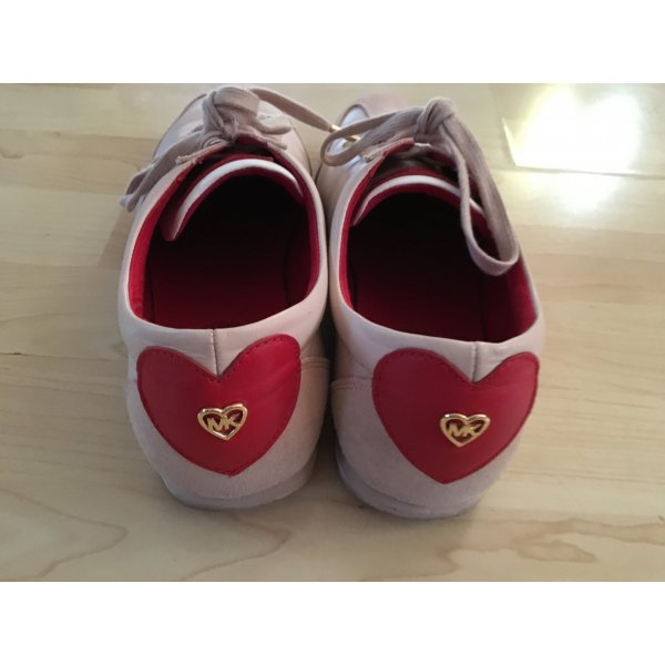 tolle Ledersneaker von Michael Kors Pink-Rot Love Gr. 41