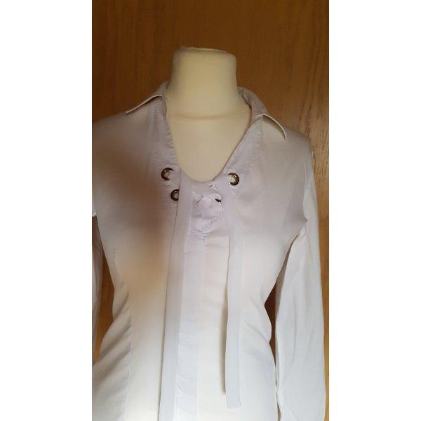 Tolle neuwertige Bluse aus 2 Materialien